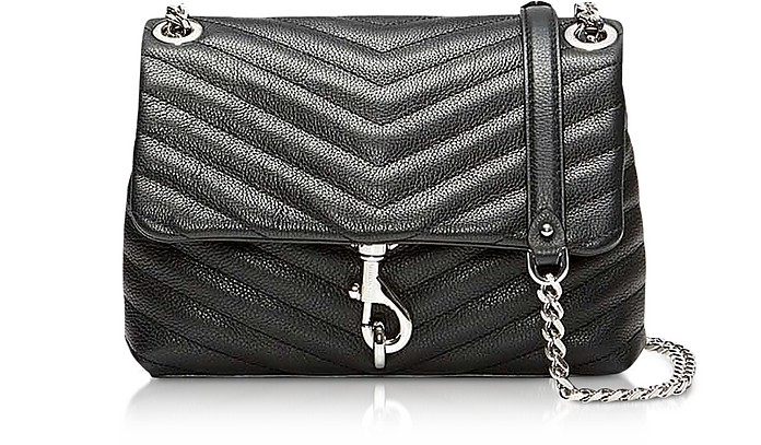 Black Quilted Leather Edie Xbody Bag - Rebecca Minkoff