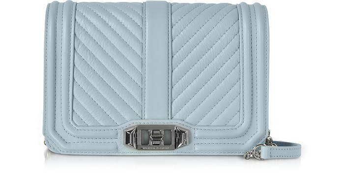 Chevron Quilted Leather Small Love Crossbody  - Rebecca Minkoff