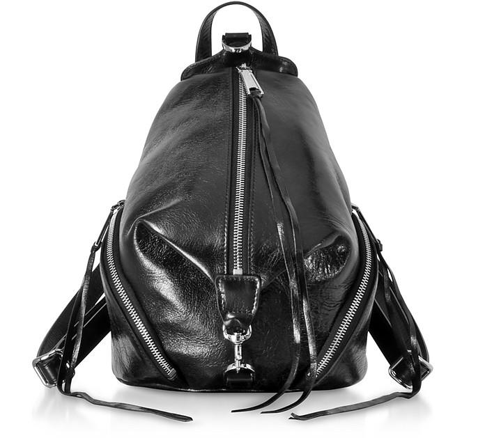 Black Nappa Leather Medium Julian Backpack - Rebecca Minkoff