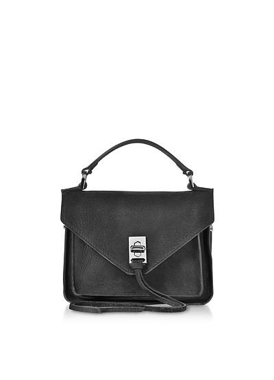 Black Nubuck Leather Mini Darren Messenger Bag - Rebecca Minkoff