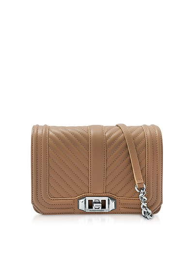 Desert Small Quilted Leather Love Crossbody Bag - Rebecca Minkoff