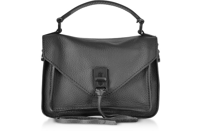 Black Leather Mini Darren Messenger Bag - Rebecca Minkoff