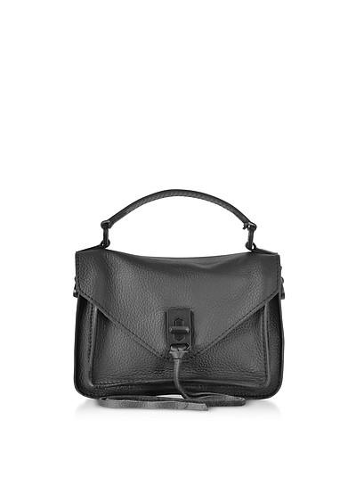 Black Leather Mini Darren Messenger Bag - Rebecca Minkoff