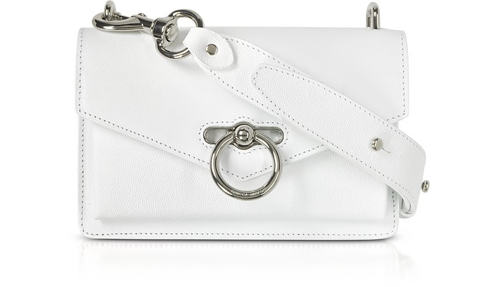 bc72881f196c Rebecca Minkoff optic white Caviar Leather Jean Xbody Bag at FORZIERI UK