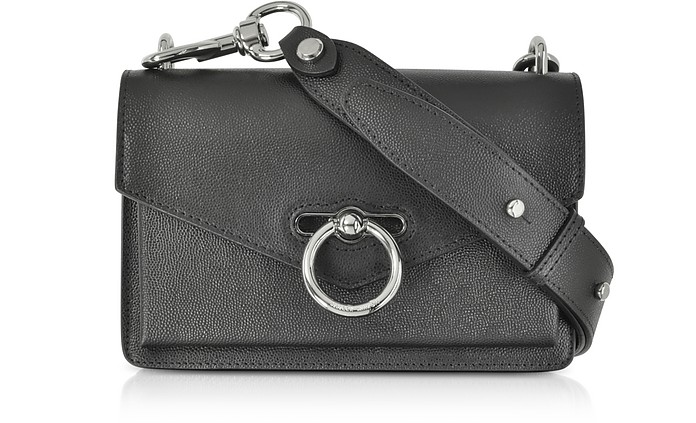 Black Caviar Leather Jean Xbody Bag - Rebecca Minkoff