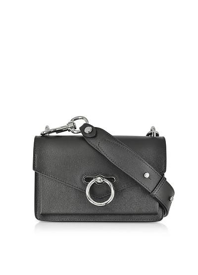 Black Caviar Leather Jean Xbody Bag - Rebecca Minkoff