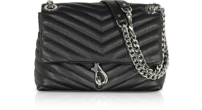 Edie Black Leather Crossbody Bag - Rebecca Minkoff