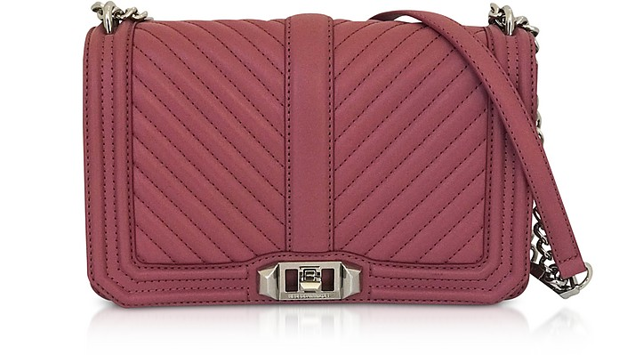 Love Fig Leather Chevron Quilted Crossbody Bag - Rebecca Minkoff