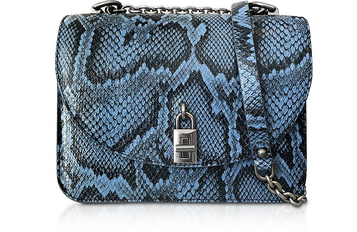 Love Too Cement Blue Leather Crossbody Bag - Rebecca Minkoff