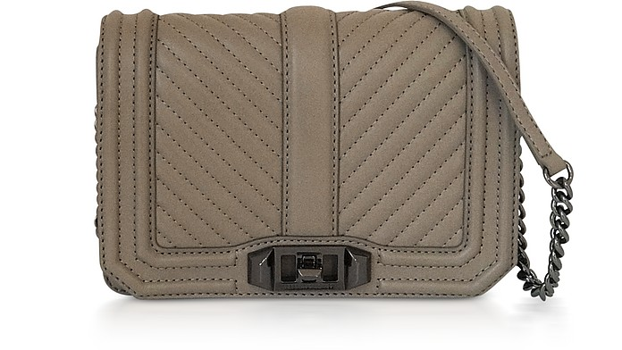 Love Small Sandrift Chevron Quilted Leather Crossbody Bag - Rebecca Minkoff
