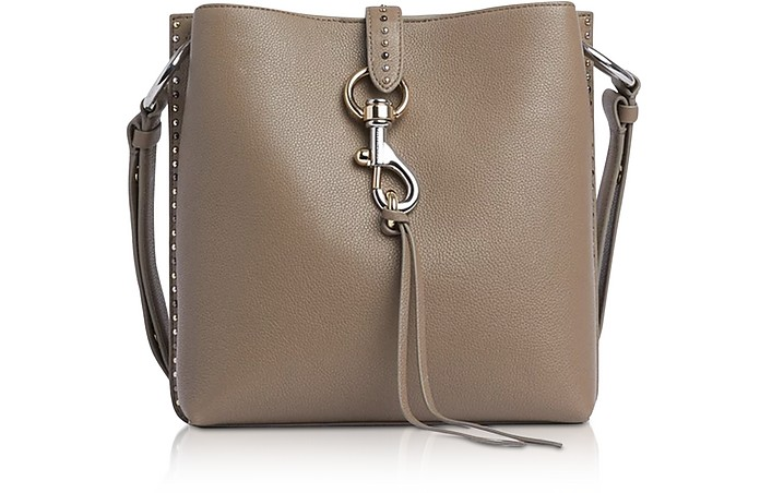 Megan Small Sandrift Leather Feed Bag with Studs - Rebecca Minkoff