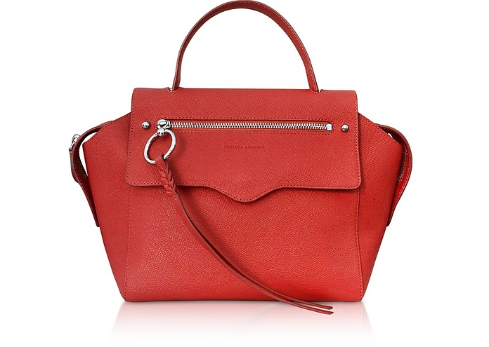 Gabby Tomato Leather Satchel Bag - Rebecca Minkoff