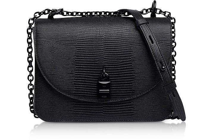 Love Too Black Leather Crossbody Bag - Rebecca Minkoff