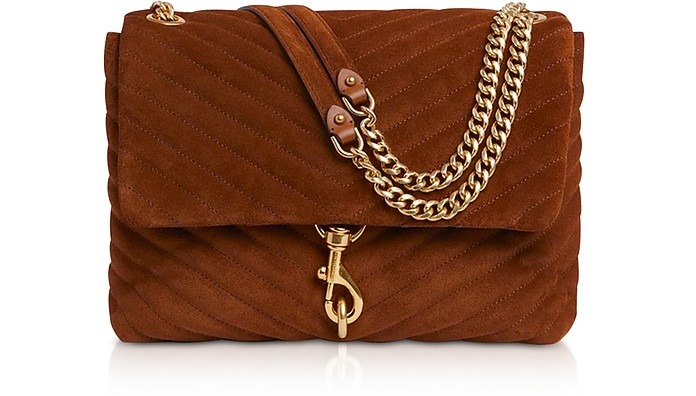 Edie Equestrian Suede Leather Flap Shoulder Bag - Rebecca Minkoff