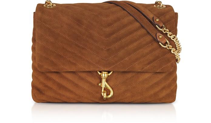 Edie Equestrian Suede Leather Flap Shoulder Bag - Rebecca Minkoff