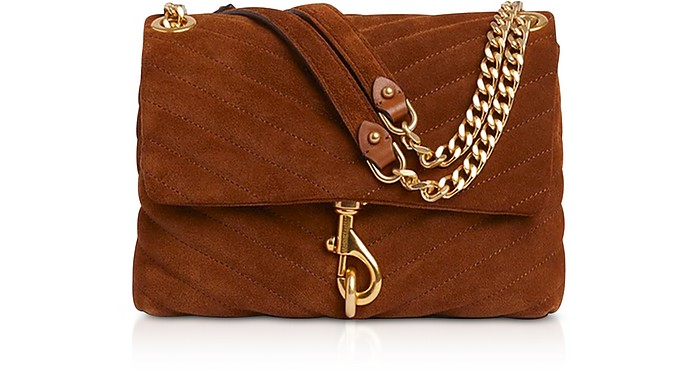 Edie Equestrian Suede Leather Crossbody Bag - Rebecca Minkoff