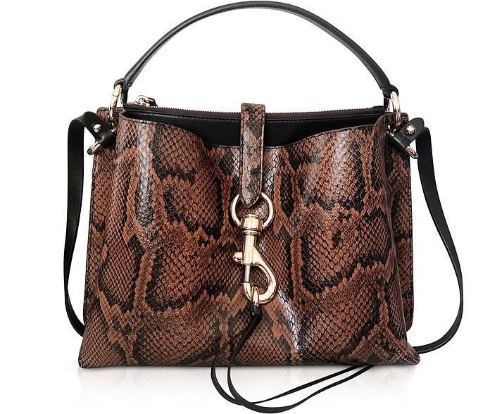 Megan Equestrian Leather Satchel Bag - Rebecca Minkoff