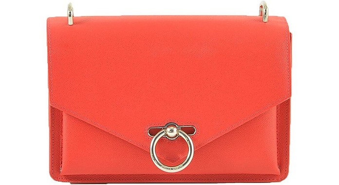 Red Grainy Leather Shoulder Bag - Rebecca Minkoff