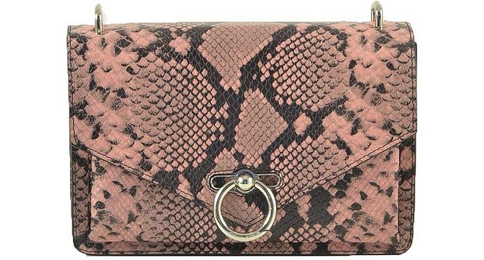 Black/Pink Snake Print Shoulder Bag - Rebecca Minkoff