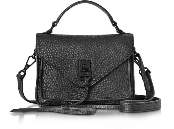 2dcc3bbe53 Rebecca Minkoff Black Leather Mini Darren Messenger Bag at FORZIERI ...
