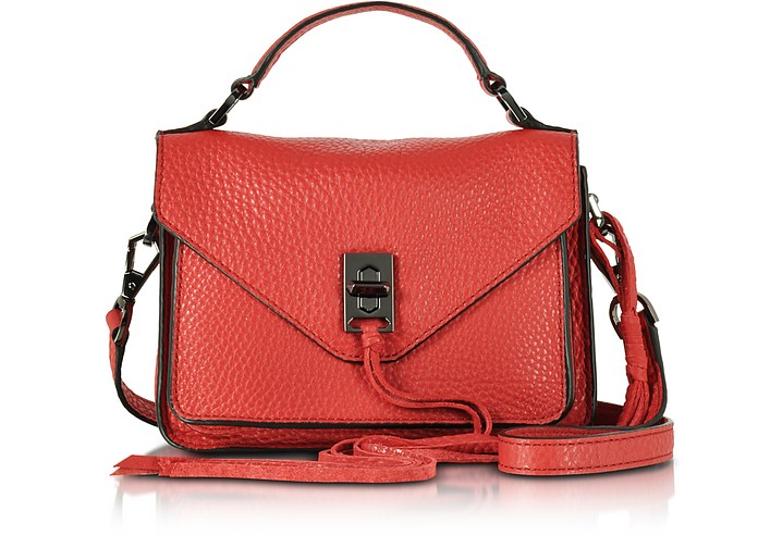 ed64d3a3e7 Rebecca Minkoff Blood Orange Leather Mini Darren Messenger Bag at ...