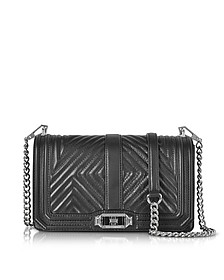 Black Geo Quilted Love Crossbody Bag - Rebecca Minkoff