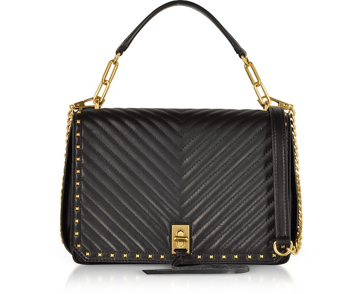 Black Medium Becky Shoulder Bag - Rebecca Minkoff