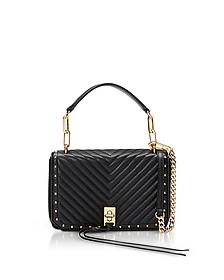 Black Nappa Leather Small Becky Crossbody - Rebecca Minkoff