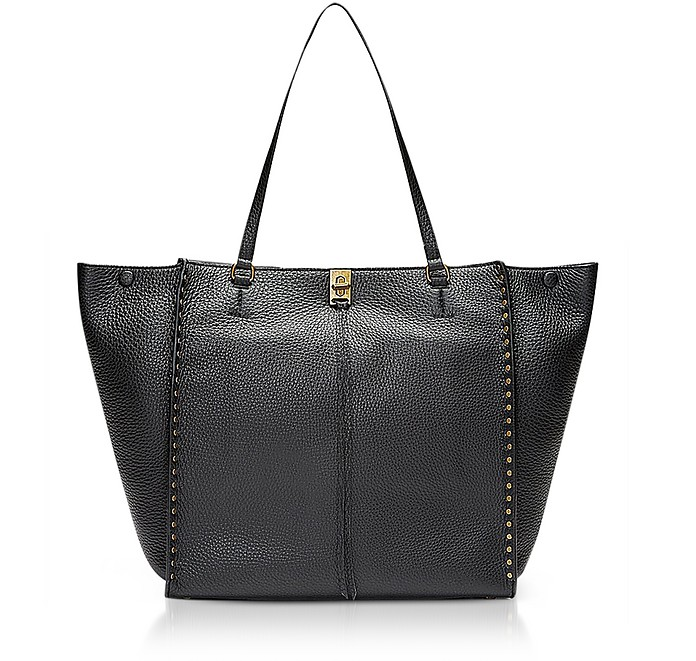 Black Grainy Leather Darren Tote - Rebecca Minkoff