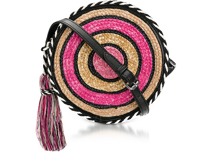 Pink Multi Straw Circle Crossbody - Rebecca Minkoff