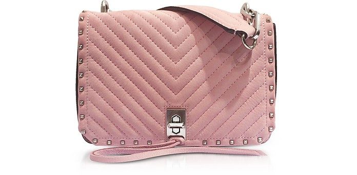 Blossom Pink Nappa Leather Small Becky Crossbody - Rebecca Minkoff