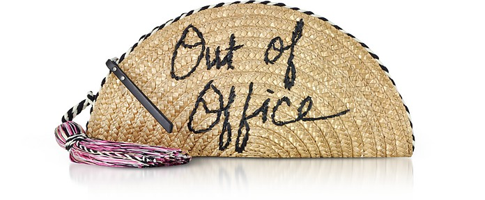 Out Of Office Straw Taco Clutch - Rebecca Minkoff