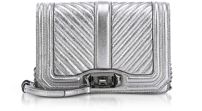 Laminated Chevron Quilted Small Love Crossbody - Rebecca Minkoff