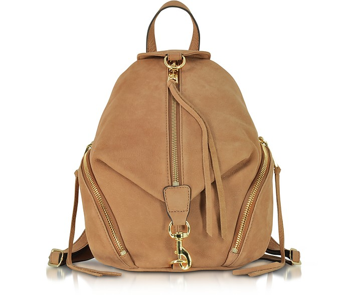 Almond Nubuck Medium Julian Backpack - Rebecca Minkoff