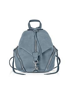 Julian Dusty Blue Nubuck Medium Backpack - Rebecca Minkoff