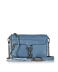 Mini M.A.C. Azure Distressed Leather Crossbody Bag - Rebecca Minkoff