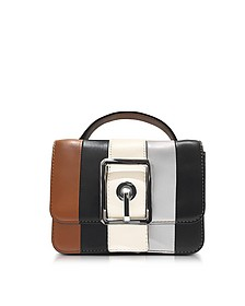 Almond and Black Leather Small Hook Up Top Handle Crossbody Bag - Rebecca Minkoff