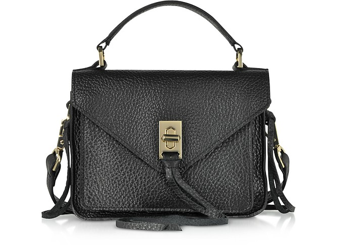 Glossy Leather Mini Darren Messenger Bag - Rebecca Minkoff