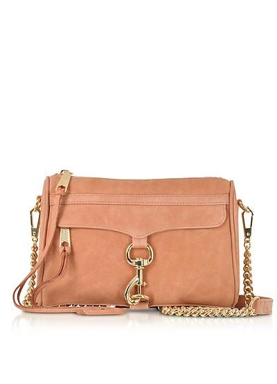 Dusty Peach Leather Mini M.A.C. Crossbody Bag - Rebecca Minkoff