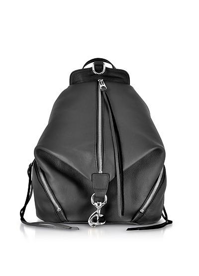 Balck Leather Julian Backpack - Rebecca Minkoff