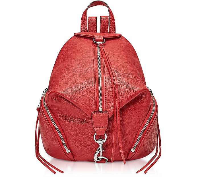 Red Scarlet Medium Julian Backpack - Rebecca Minkoff