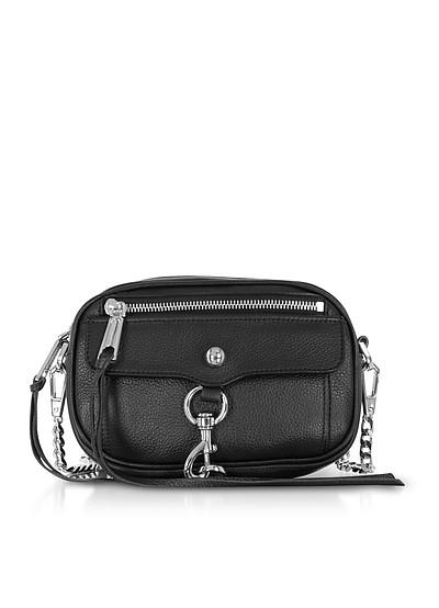 Black Pebbled Leather Blythe Xbody Bag - Rebecca Minkoff