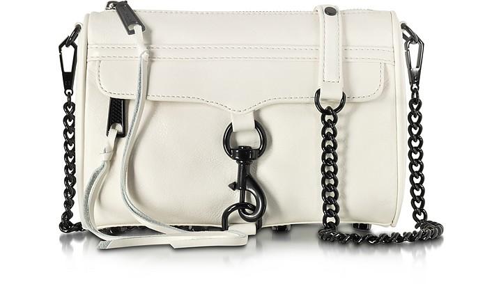 Mini Mac Antique White Leather Crossbody Bag - Rebecca Minkoff