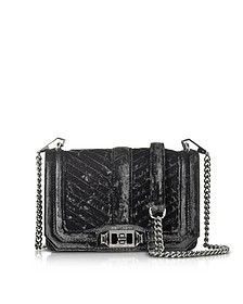 Chevron Quilted Small Velvet Love Crossbody Bag - Rebecca Minkoff