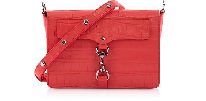 Croco Embossed Leather Mab Flap Crossbody - Rebecca Minkoff