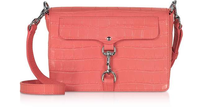 Croco Embossed Leather Mab Flap Crossbody - Rebecca Minkoff