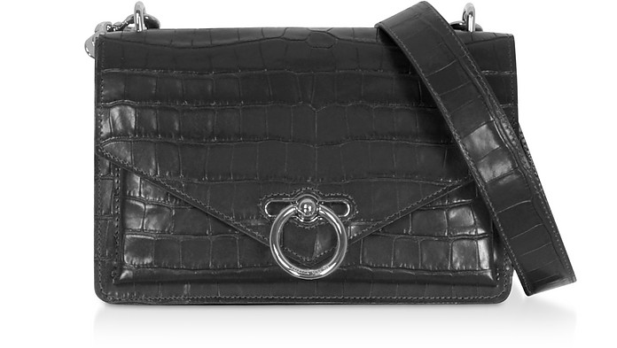 Croco Embossed Leather Jean Small Xbody - Rebecca Minkoff