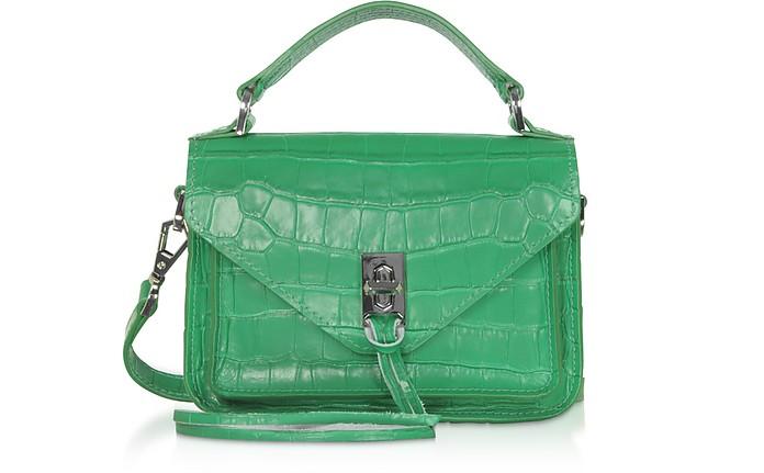 Croco Embossed Leather Mini Darren Messenger Bag - Rebecca Minkoff