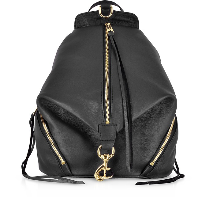 Black Leather Julian Backpack - Rebecca Minkoff