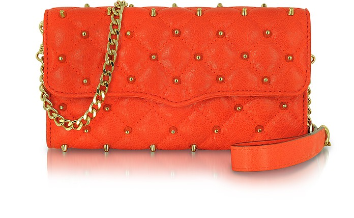 Wallet on a Chain - Studded Leather Clutch - Rebecca Minkoff